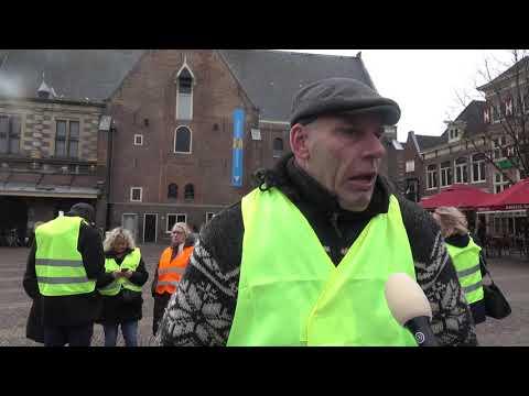 Gele hesjes protest in Alkmaar