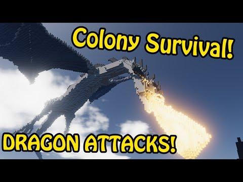 DRAGON ATTACKS! - Dragon Speedbuild | Colony Survival Speed Build #11