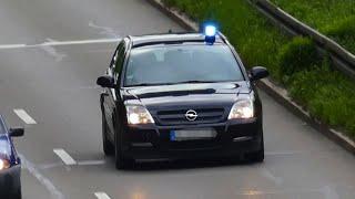 [Opel Signum] Ziviles Einsatzfahrzeug auf Einsatzfahrt in München