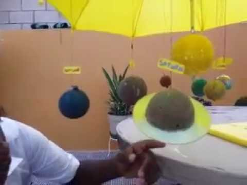 How to construct the Solar System School Project - YouTube