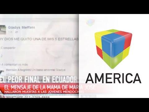 """Habló la mamá de una de las chicas fallecidas en Ecuador: Dios me quitó una de mis cinco estrellas"""""""