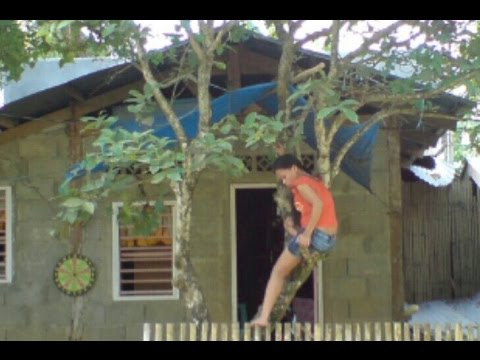 Building a house in Southern Leyte Philippines clip 1 Demolishing the old house.