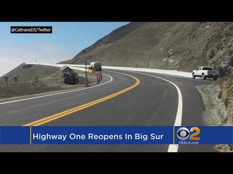 California's Iconic Highway 1 Near Big Sur Reopens Today