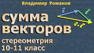 стереометрия СУММА ВЕКТОРОВ 10 11 класс Атанасян