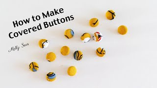 How to Cover Buttons - Make Covered Buttons