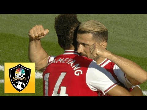Aubameyang spins, finishes to give Arsenal lead against Watford | Premier League | NBC Sports