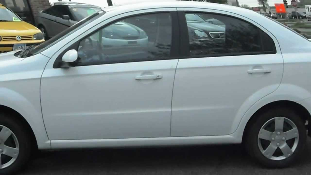 Elegant 2011 CHEVROLET Aveo LT, 4 Door, Auto, Air, WHITE!!!   YouTube