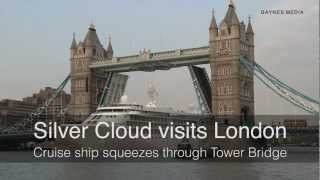 Silver Cloud squeezes through Tower Bridge