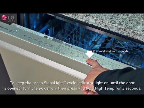 LG SIGNATURE Dishwasher - Understanding the SignaLight™ Cycle Indicator Lights