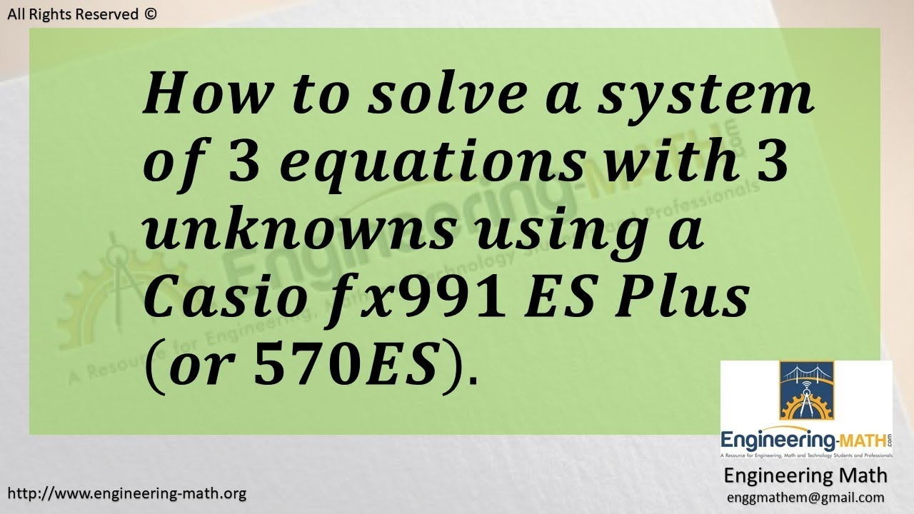 How to solve a algebraic equation using calculator – what's on the.