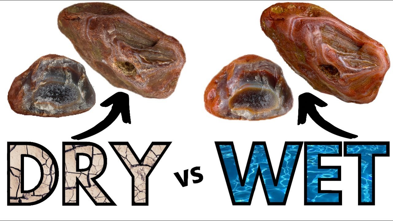 DRY vs WET AGATES   How to EASILY make your rocks POP