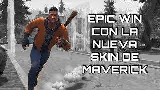 EPIC WIN WITH MAVERICK'S NEW SKIN - Fortnite Battle Royale