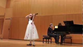 Alma Deutscher (7) playing Bériot, violin concerto no. 9 - I. Dec 2012