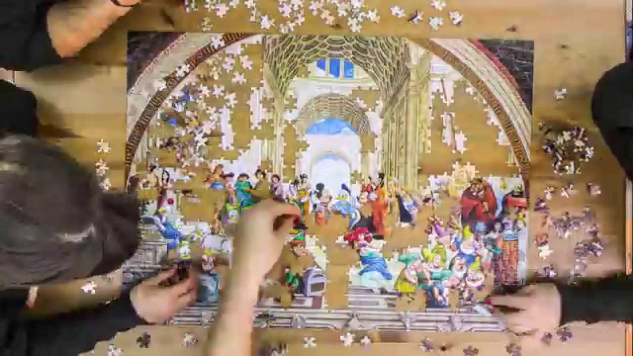 timelapse puzzle 1000 pieces disney by band of puzzle