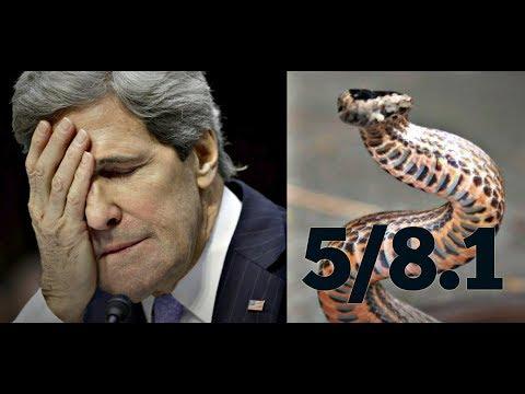 5/8.1 KERRY THE SNAKE (Trudeau, Aga Khan, Clinton, Iran, and China)