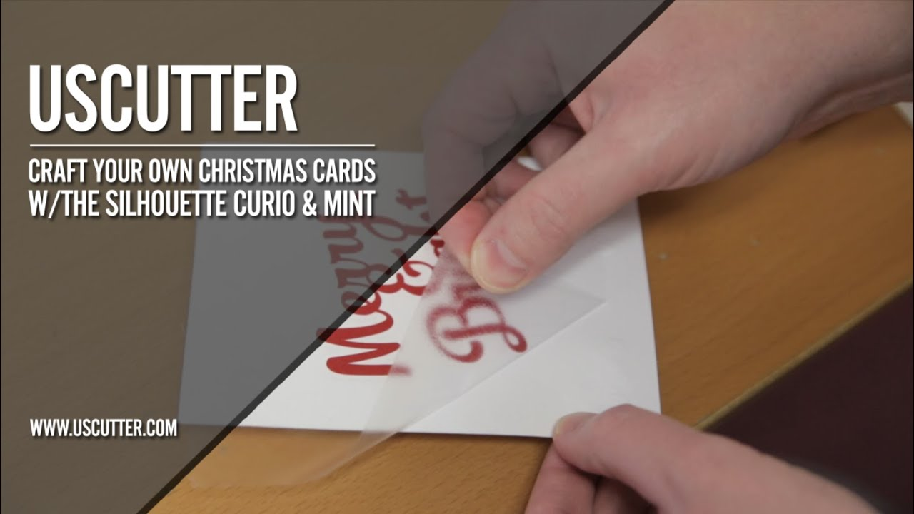 Craft your Own Christmas Cards w/The Silhouette Curio & Mint - YouTube