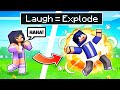 Minecraft But If You LAUGH You EXPLODE!