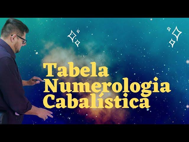 TABELA DE  NUMEROLOGIA CABALÍSTICA como usar