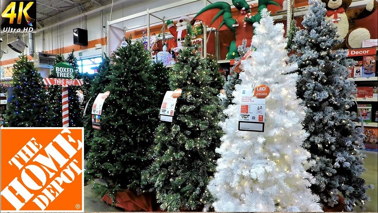 all christmas trees at the home depot christmas shopping christmas tree shop 4k - Home Depot Christmas Decorations
