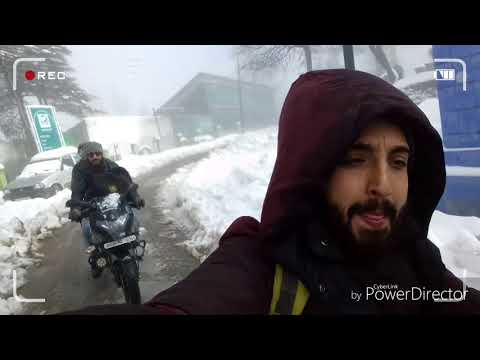 Snow ride Patnitop hilll ||1  of the beautiful hill station of J&K