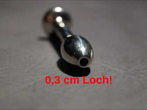 SchoepfersReiz.de - Ovaler Kugelstab mit Loch - Urethral Sounding - Harnröhrenimplantat