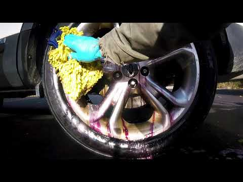 How to remove rust or brake dust stains from wheels AMAZING!