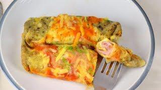 Canelones de tortilla rellenos de jamón y queso ¡Fáciles y deliciosos!