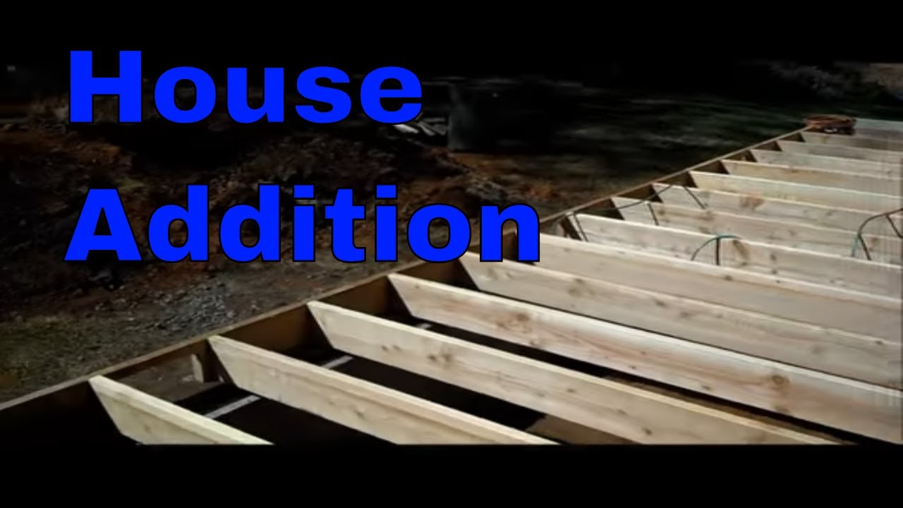 House addition layout to sub floor youtube for Building onto a house