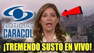 TREMENDO susto presentadora de Noticias Caracol por el fuerte temblor DE HOY  COLOMBIA 24 DICIEMBRE