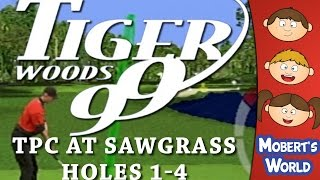 Tiger Woods 99 PGA Tour Golf PS1 (PSX) - TPC at Sawgrass, Hole 1-4 - Let