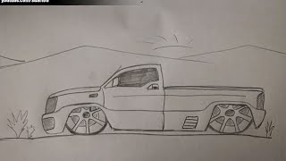How to draw a truck with rims