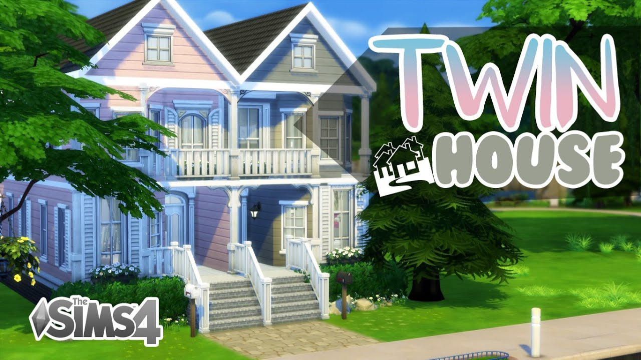 The Sims 4 House Build Twin House No Cc Youtube