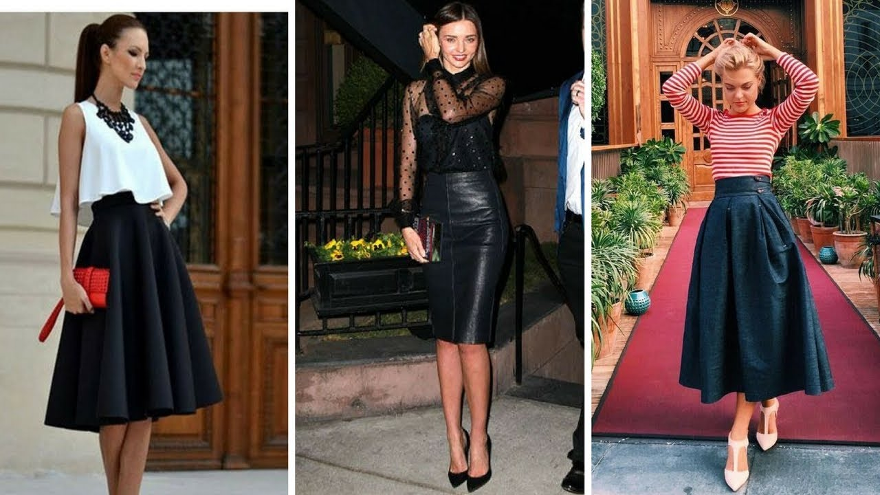 5365d00a0 FALDAS NEGRAS DE MODA ♥ #Moda #Fashion #Faldas