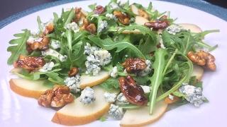 Салат с грушей и грецкими орехами