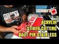 Membuat papan nama acrylik dengan stiker cutting dan baut pin stainless