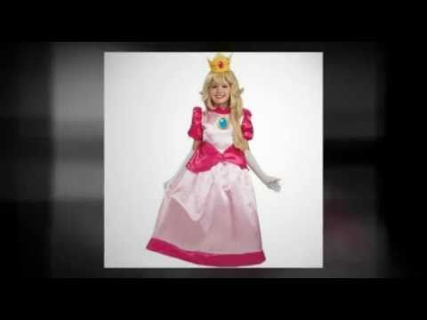 Super Mario Deluxe Princess Peach Child Costume  sc 1 st  YouTube & Super Mario Deluxe Princess Peach Child Costume - YouTube