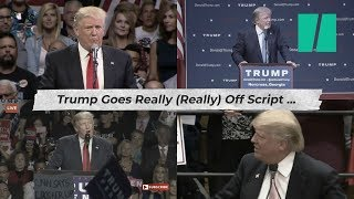 Here's What Happens When Trump Goes Off Script   Trumpster Fire
