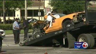 Holy Sh*T!!! Dump truck horror in Miami takes out multiple cars and people.