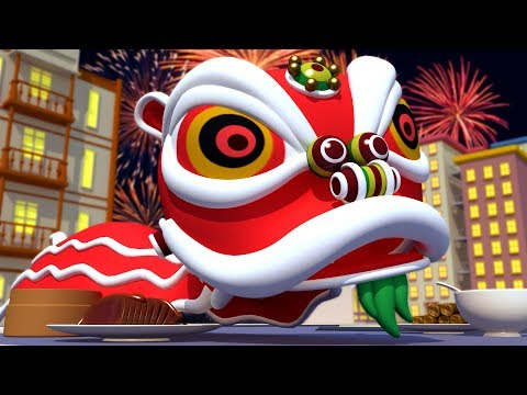 The Monster of the Chinese New Year!  - The Car Patrol in Car City Police Car & Fire Truck for Kids