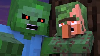 Villager & Witch Life 5 - Alien Being Minecraft Animation