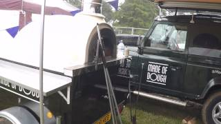 Land Rover Defender & Trailer Pizza Ovens Big Feastival 2015 Made of Dough