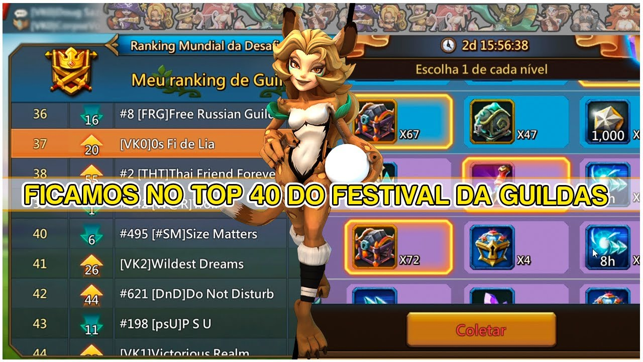 🎮 FICAMOS NO TOP 40 DO FESTIVAL DA GUILDAS #45