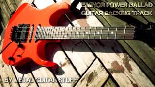 E Minor 80's Power Ballad Guitar Backing Track [ Hard Rock Metal ]