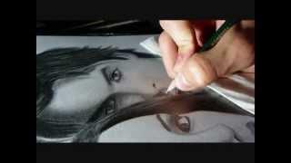 Vampire Diaries Speed Drawing Nina Dobrev Ian Somerhalder