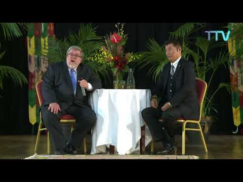 President Dr. Lobsang Sangay in conversation with Prof. Dr. John Powers