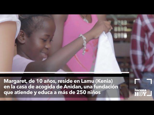 Vídeo: El IES Sierra de Aras recibe a Margaret, una niña keniata que será operada en España
