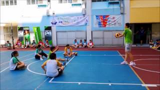 「運動與營養」學校巡禮第一擊的第四站  孫玥教練示範及友誼賽