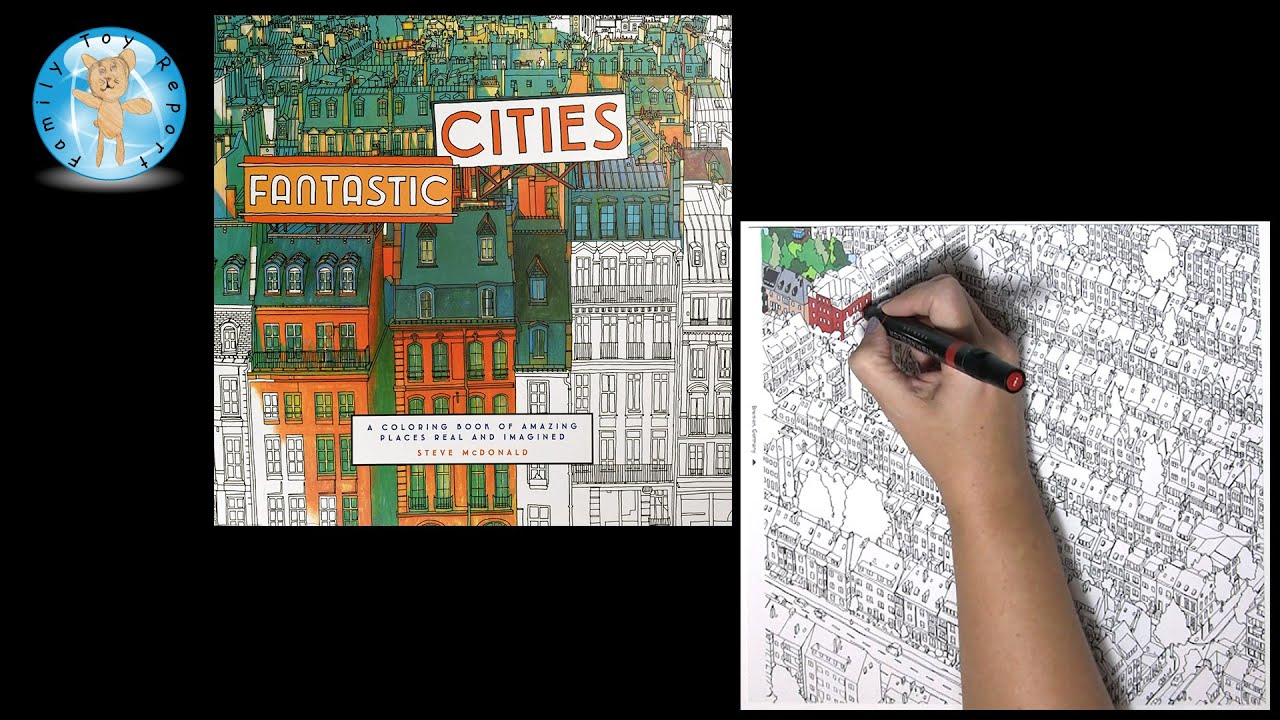Fantastic Cities By Steve McDonald Adult Coloring Book