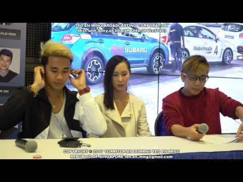 Mediacorp Actress Paige Chua at Singapore Motor Show 2017 on Friday the 13th
