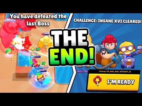 BEATING FINAL BOSS FIGHT LEVEL! WHAT HAPPENS?! HOW TO BEAT INSANE 16 IN BRAWL STARS!